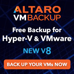 Free Altaro Backup for Hyper-V & VMware